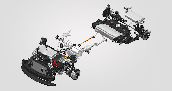 Toyota C-HR Hybrid components