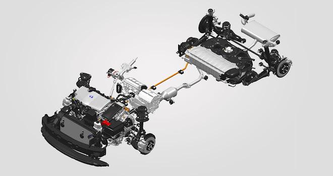 Toyota C-HR Hybrid components