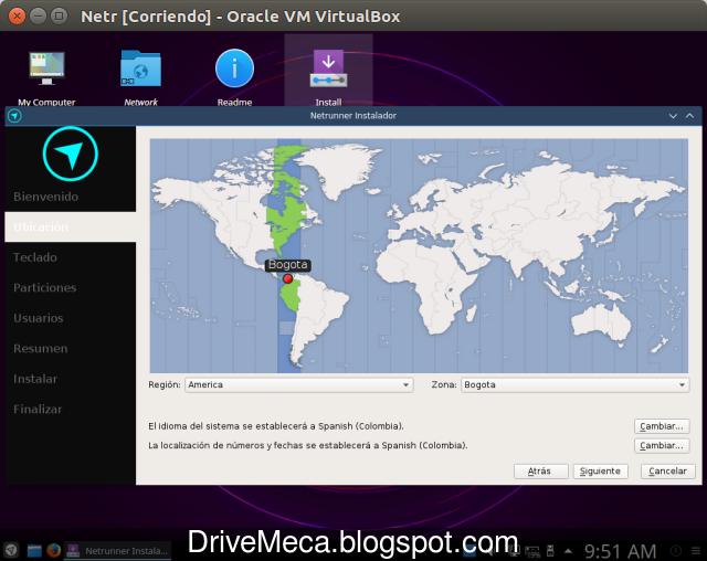 DrivMeca instalando Netrunner Linux paso a paso