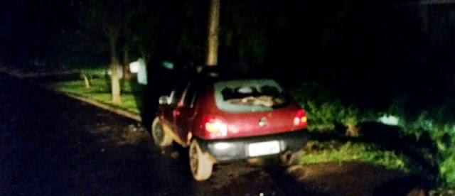 Roncador: Veículo bate em poste e deixa cidade sem energia elétrica
