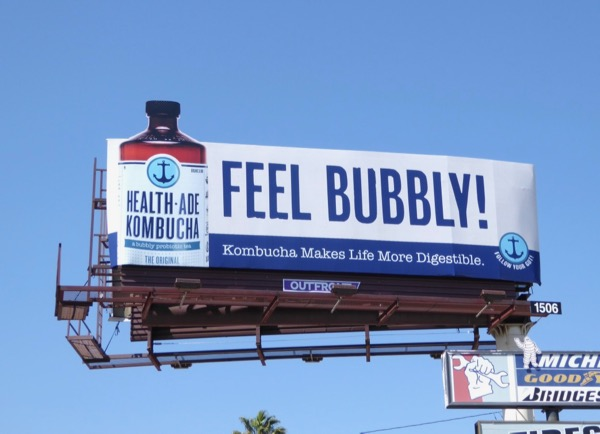 Feel Bubbly HealthAde Kombucha billboard