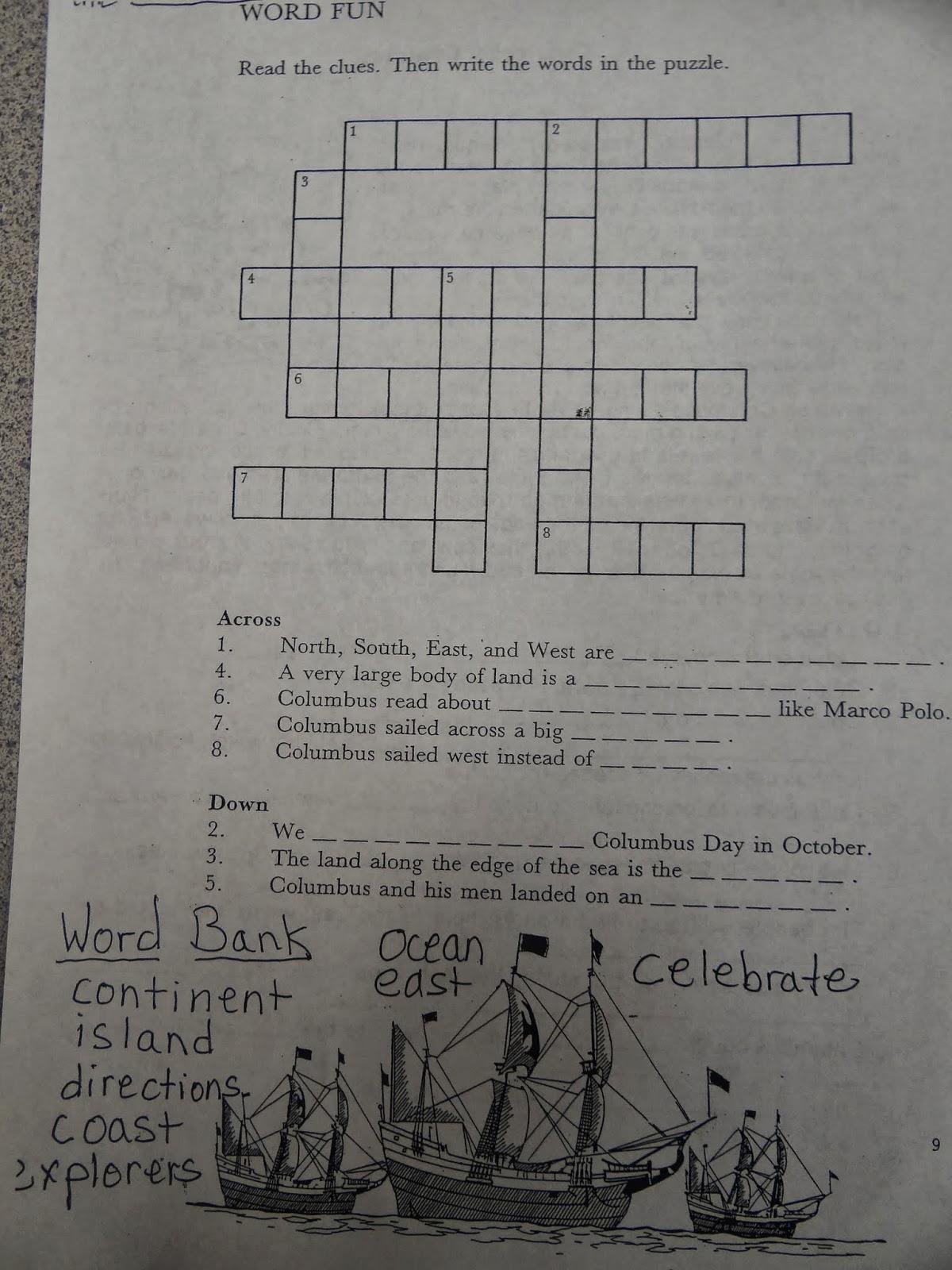 Patties Classroom Columbus Day Activities