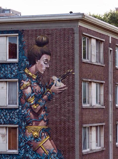 Street Art By Pixel Pancho For Day On Urban Art Festival In Antwerp, Belgium. 3