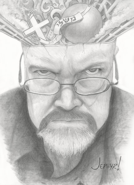 "Pencil Sketch:  ""Uncle Chad"" - Copyright 2016 - Jephyr!"