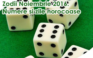 Numere Norocoase Zodii Noiembrie 2016 Horoscop Financiar