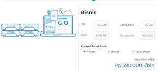 Cloud VPS Hosting Niagahoster Paket Bisnis
