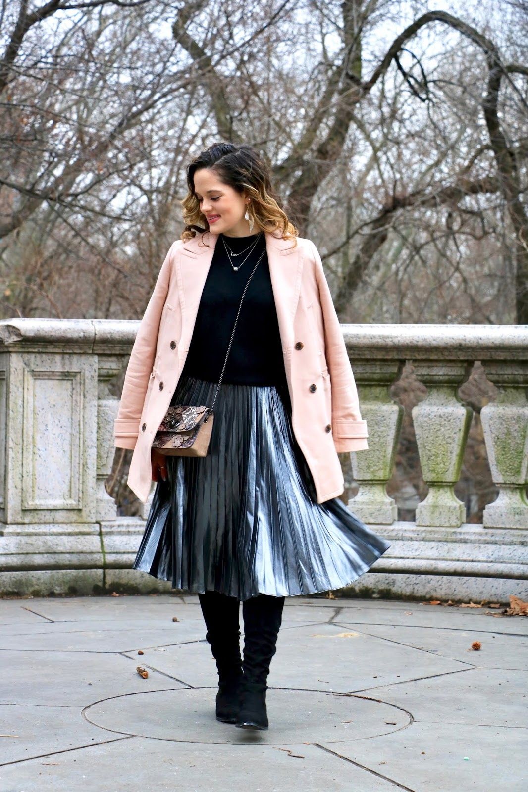 Nyc fashion blogger Kathleen Harper's winter date night outfit