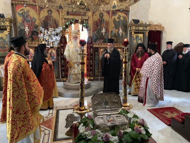 Στην Κρήτη ο Μητροπολίτης Αργολίδας Νεκτάριος μετέφερε τα Ιερά Λειψανα του Αγίου Λουκά
