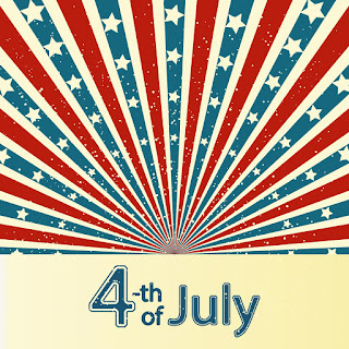 4th of July Free Printable Postcards