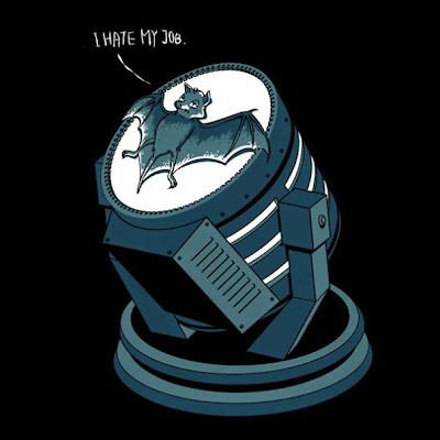 lustración divertida d Batman