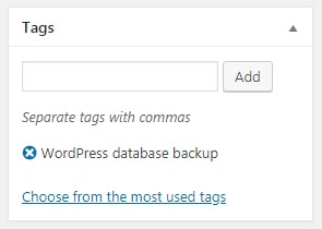 Tag in WordPress