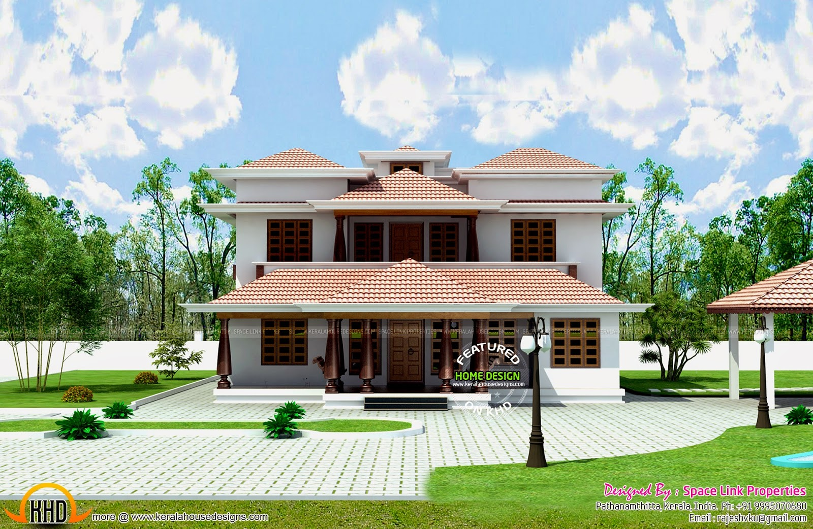 Typical kerala traditional house kerala home design and for Kerala house plans and designs