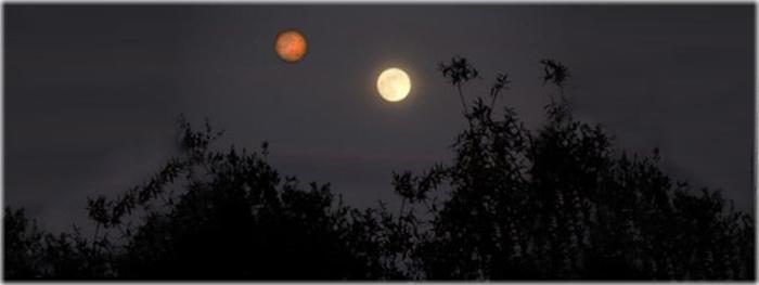 Marte do tamanho da Lua em agosto