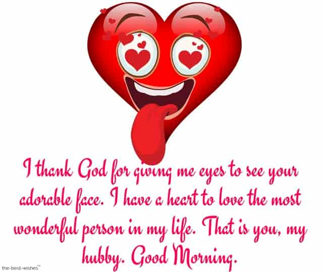 beautiful good morning message for my husband