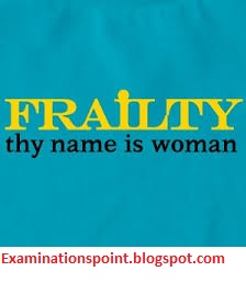 frailty your name is woman