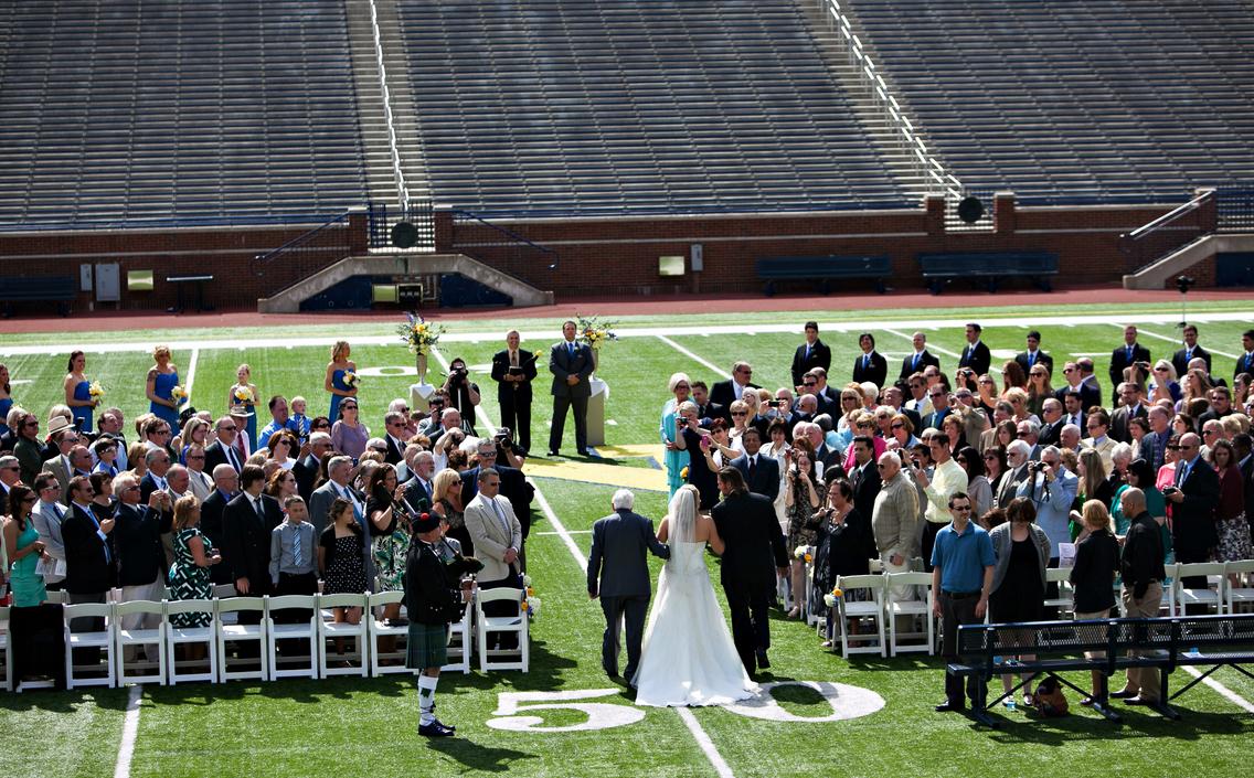 University of Michigan Athletic Department Wedding Venue