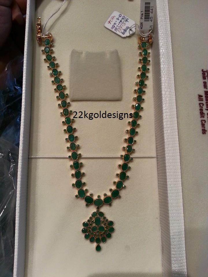 Traditional Emerald long chain