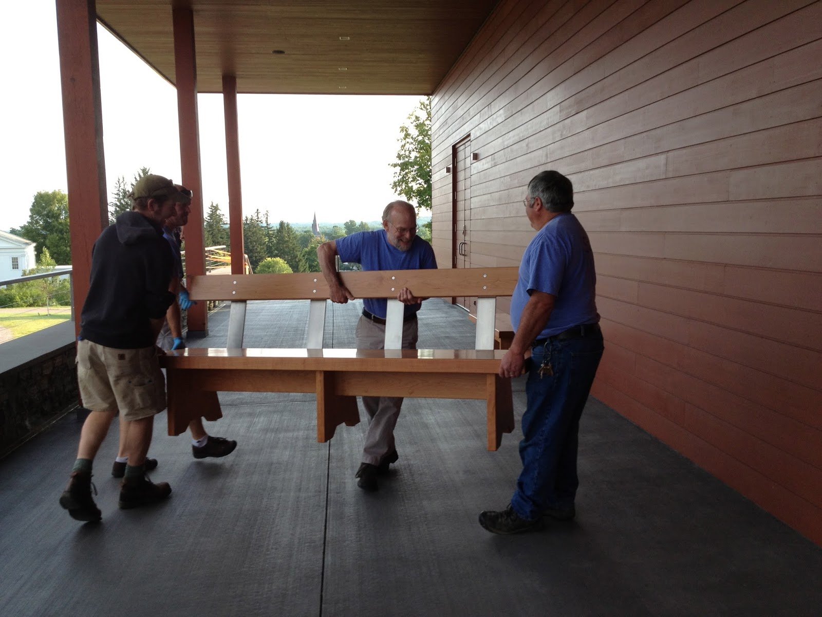 What's New At TimothyClark.com: Benches Delivered And In