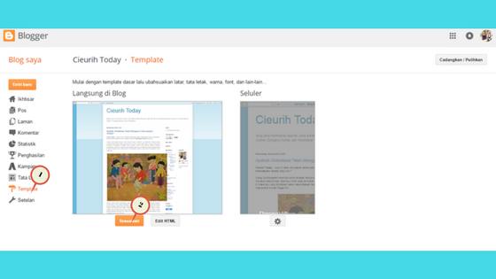 Editor template blogspot