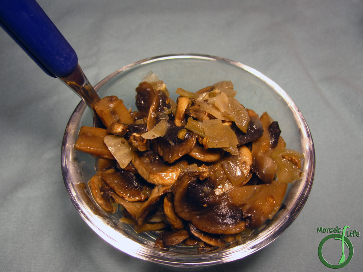 Morsels of Life - Pan Seared Mushrooms - Tender, meaty mushrooms and onions with just a hint of crispness, these pan-seared mushrooms adopt the flavors of any seasonings you might add while maintaining their earthy identity.