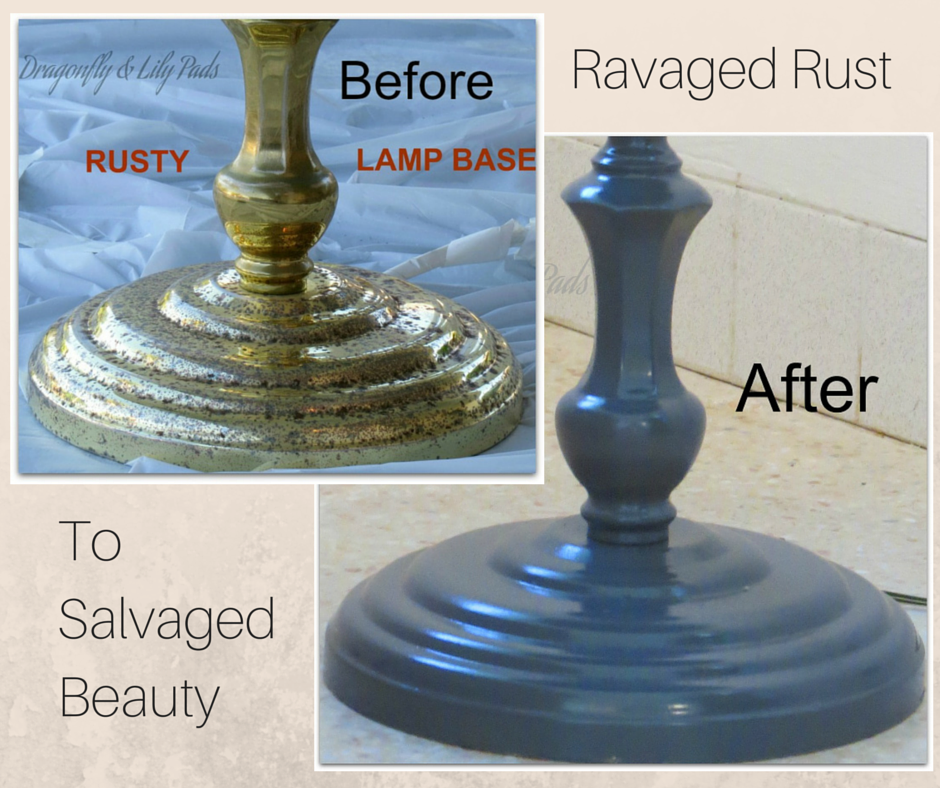 Before and After, Rust Ravaged to Salvaged Beauty, Rust, Brass, Gray