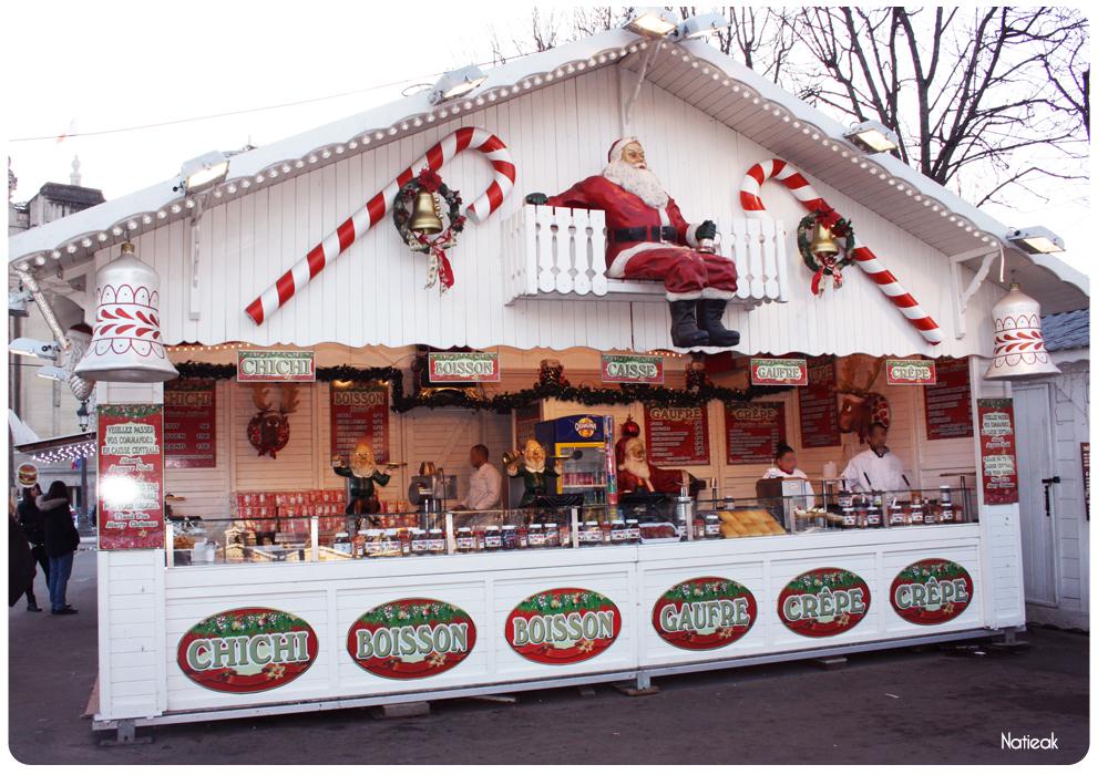 Gourmandises au marché de Noël des Champs-Elysées