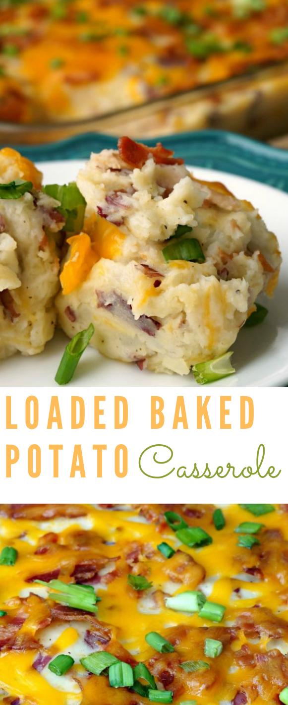LOADED BAKED POTATO CASSEROLE RECIPE #dinner #eating
