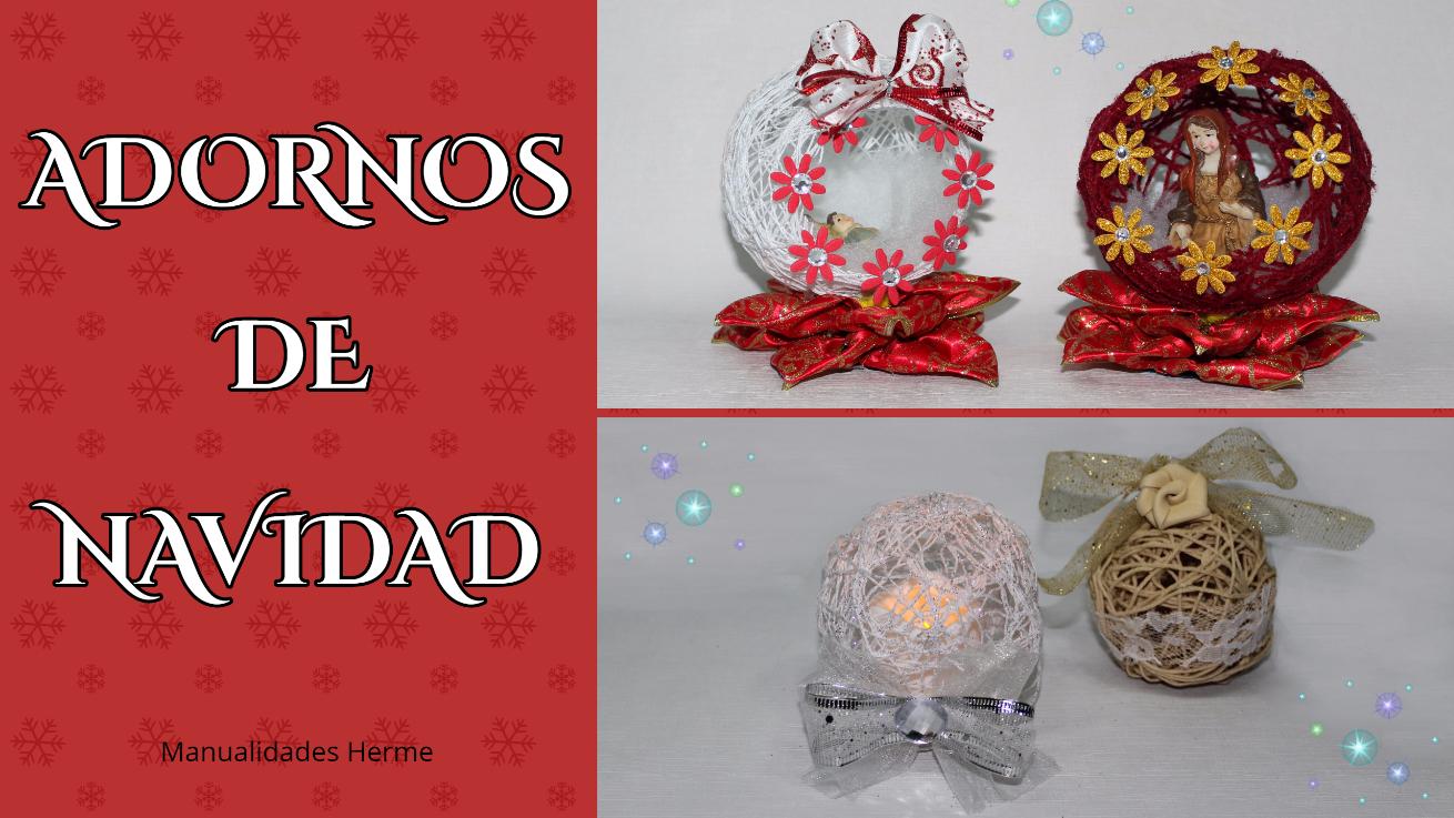Manualidades Herme Adornos Navidenos Con Hilo - Manualidades-de-adornos-navideos