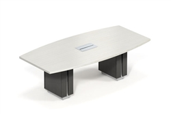 White and Gray Powered Conference Table