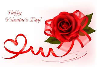 Happy Valentines day picture with red rose flower