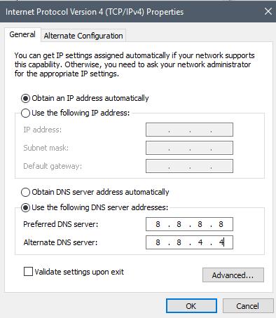Setting DNS