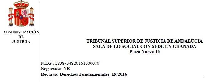 20/12/2016.- TSJA-GRANADA-JUICIO 19 DE ENERO DE 2017 A LAS 10:30 HORAS