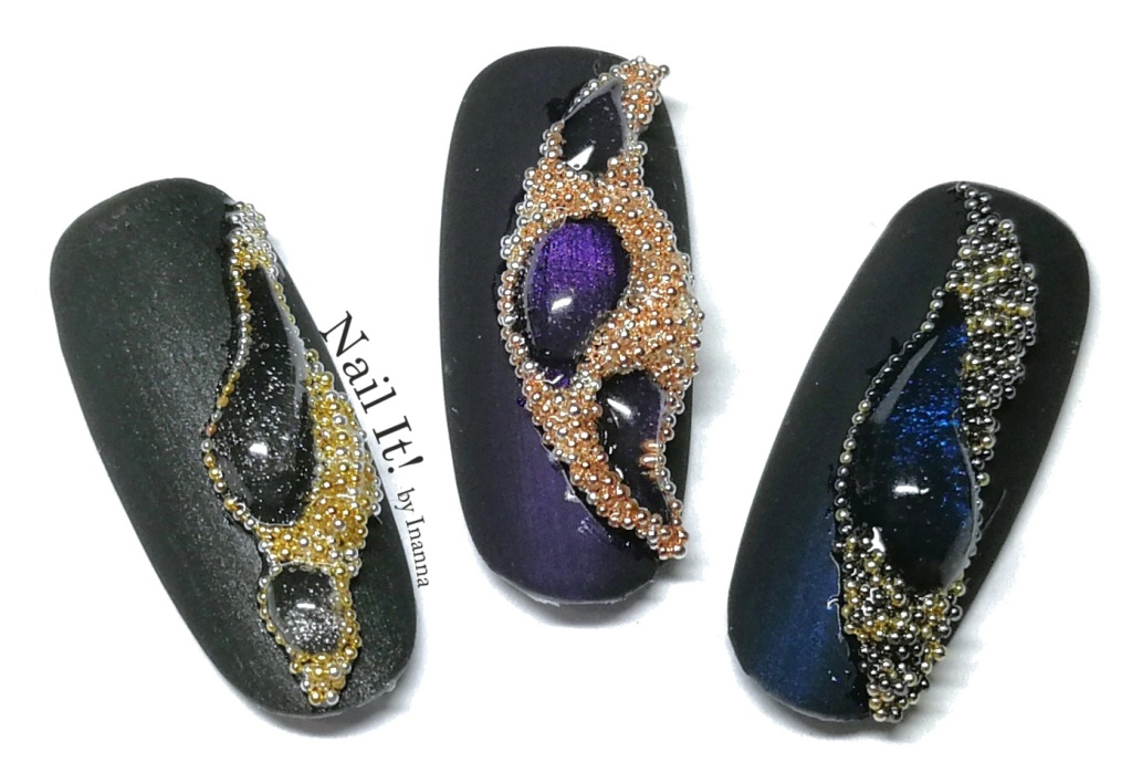 "Jewellery Gemstone Nail Art TUTORIAL (Indigo Nails ""Galactica"", ""Paranoia"" and ""Metallizer"")"