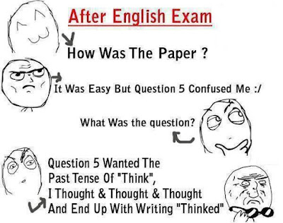 Has this ever happened to you in any of your English exams?