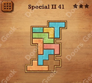 Cheats, Solutions, Walkthrough for Wood Block Puzzle Special II Level 41