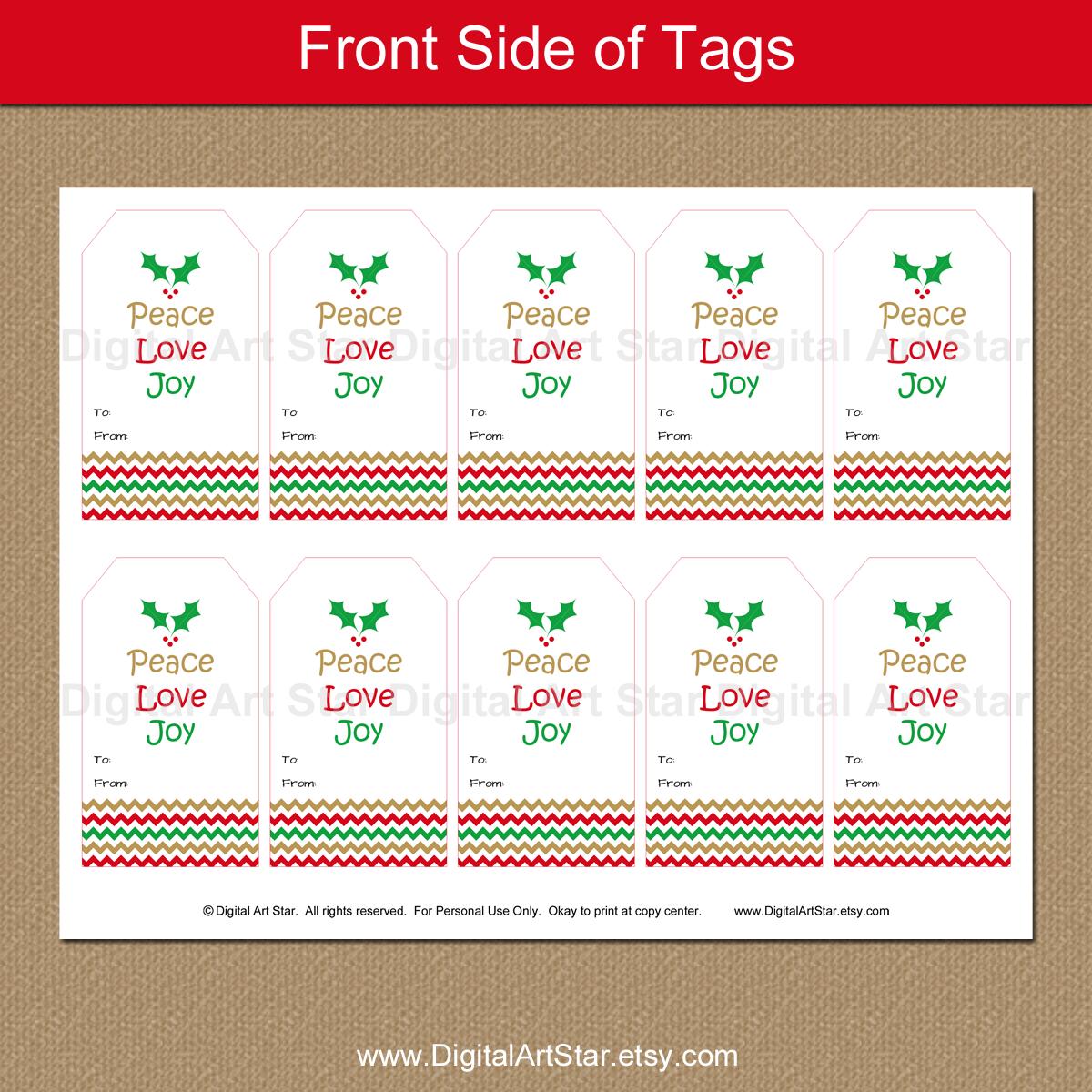 Digital Art Star Printable Party Decor Christmas Peace Love Joy Party Printables