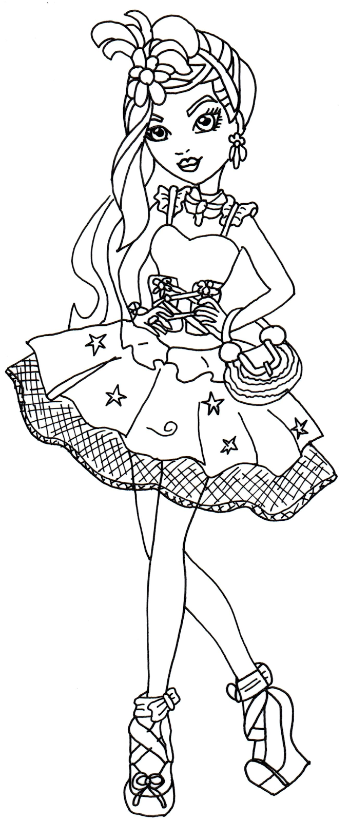 Free Printable Ever After High Coloring Pages Duchess Swan Ever After High Coloring Page