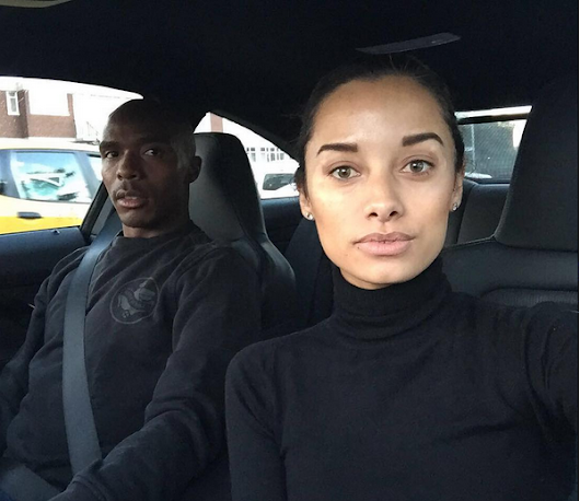 Bloemfontein Celtic, Lennox Bacela shows off his girlfriend