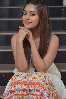 Telugu Actress Anu Emmanuel New Stills in Beautiful White Long Dress  0036.JPG