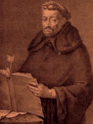 Retrato de Fray Luis de León  con un libro en las manos