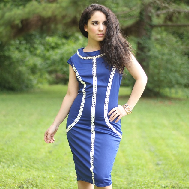 Blue Sheath Dress