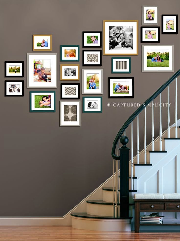 50 creative staircase wall decorating ideas art frames - Decorating walls with pictures ...