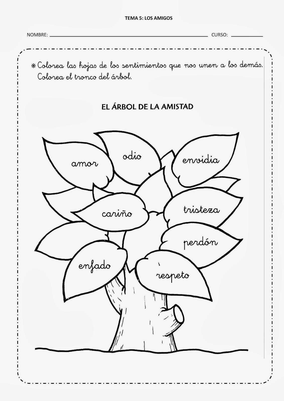 Aprendemos en reli tema 5 los amigos fichas 2 y 3 for Significado de la palabra arbol
