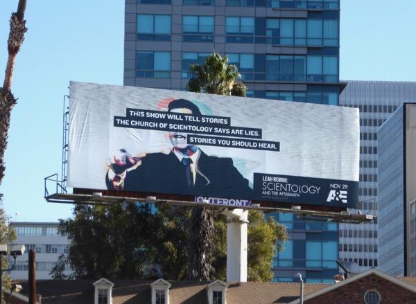 Leah Remini Scientology Aftermath billboard