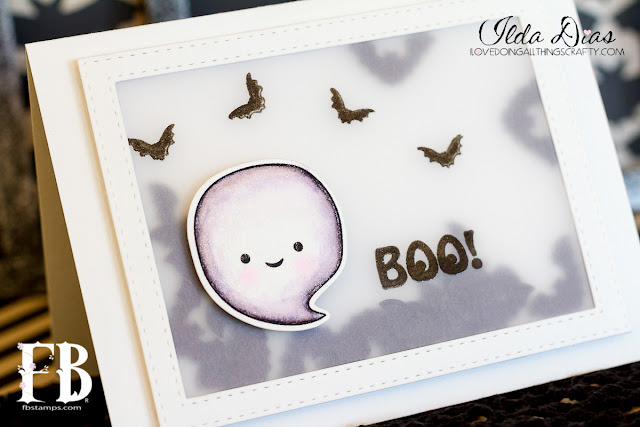 BOO! Shaker Card by ilovedoingallthingscrafty