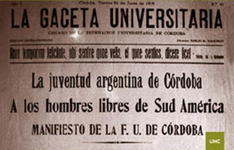 Resultado de imagen para reforma universitaria de 1918