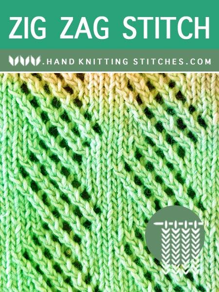 The Art of Lace Knitting - Zig Zag #LaceKnitting Pattern.