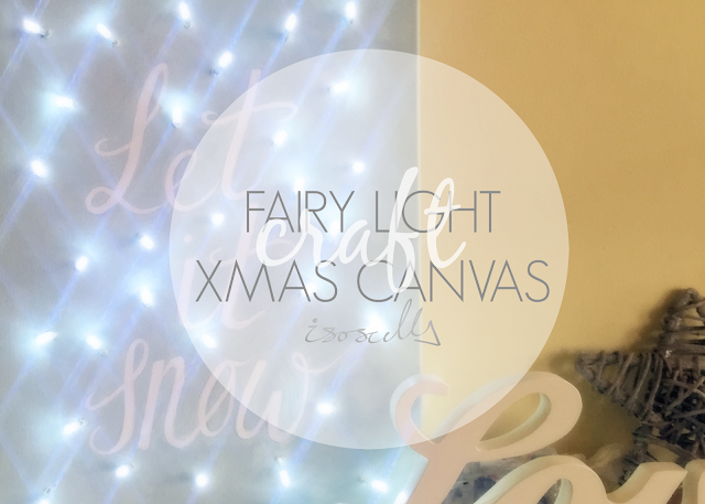DIY Fairy Light Christmas Canvas How to Header