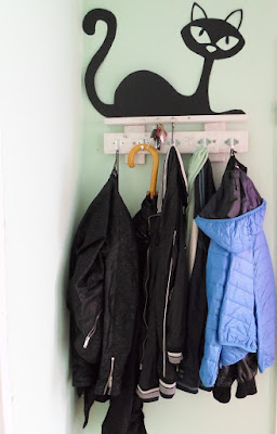 papierowe koty na ścianę DIY