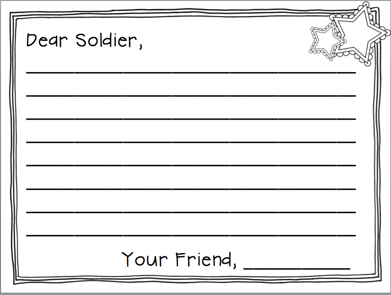 veterans day thank you letter template - samples of thank you letters to soldiers soldiers angels